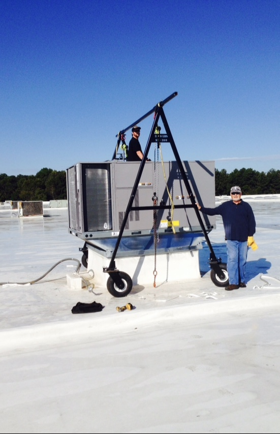 PRO-LIFT HVAC Lift comparable product Alternative Aframe used to move HVAC units around on roofs.